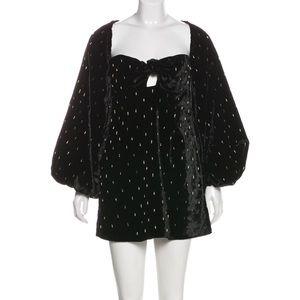$2200 Attico balloon sleeve velvet dress IT40 /US4